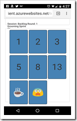 Planning Poker Screenshot